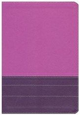 NIV Life Application Study Bible, Large Print, Italian Duo-Tone, Dark Orchid/Plum, Indexed