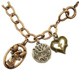 Angel, Heart, Cross Bracelet