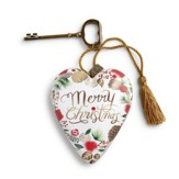 Merry Christmas Wreath Art Heart