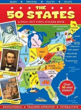 The 50 States: A Fold-out Vinyl Sticker Book