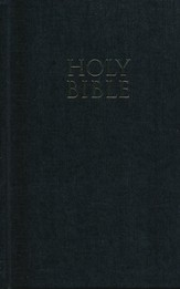 NIV Pew Bible, Large Print, Black