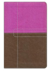 NIV ReadEasy Bible, Compact, Italian Duo-Tone, Dark Orchid/Chocolate - Slightly Imperfect