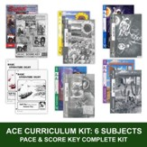 ACE Comprehensive Curriculum (6  Subjects), Single Student Complete PACE & Score Keys Kit, Grade 8, 3rd Edition (with 4th Edition Math)