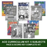 ACE Comprehensive Curriculum (5 Subjects), Single Student Complete PACE & Score Keys Kit, Grade 9, 3rd Edition