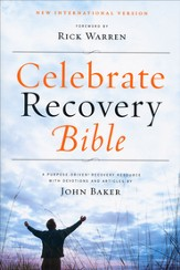 NIV Celebrate Recovery Bible, Softcover  - Slightly Imperfect