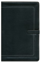 NIV Thinline Bible, leather Bound, Black - Slightly Imperfect