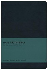 NASB Skinii Bible, Leather Bound Hardcover, Black