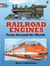 Railroad Engines from Around the World Coloring Book