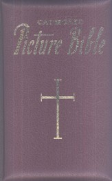New Catholic Picture Bible, Burgundy Bonded Leather