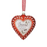 Friend, You Are A Blessing Heart Ornament