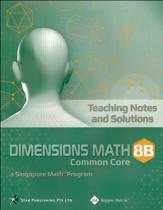Dimensions Math Teaching Notes & Solutions 8B