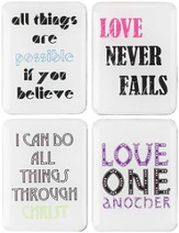 Inspirational Message Magnets, Set of 4