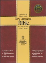 St. Joseph New American Bible (Giant Type Edition) Red Cloth