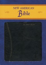 St. Joseph, New American Bible, Black, Imitation Leather, Medium, Gift Edition - Imperfectly Imprinted Bibles