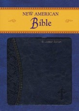 St. Joseph, New American Bible, Blue, Imitation Leather, Medium, Gift Edition - Imperfectly Imprinted Bibles