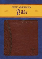 St. Joseph, New American Bible, Brown, Imitation Leather, Medium, Gift Edition - Imperfectly Imprinted Bibles