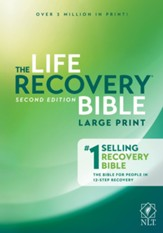 NLT Life Recovery Bible, Large Print - Slightly Imperfect
