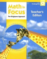 Math in Focus: The Singapore  Approach Grade K First Semester Homeschool Package