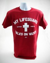My Lifeguard Shirt, Red,  X-Large