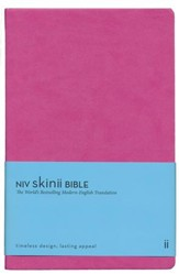 NIV Skinii Bible, Italian Duo-Tone, Pink - Slightly Imperfect