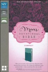 NIV Mom's Devotional Bible Compact, Italian Duo-Tone, Turquoise/Teal