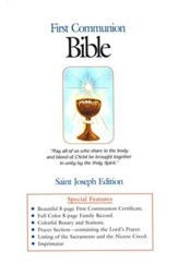 St. Joseph, First Communion Bible, NAB, White Flex cover, Boys Edition