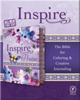 NLT Inspire PRAISE Bible, Purple Imitation Leather with Floral Design - Imperfectly Imprinted Bibles