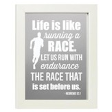 Life is Like Running a Race, Hebrews 12:1, Mirror