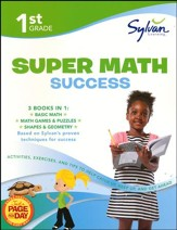 First Grade Super Math Success (Sylvan Super Workbooks)