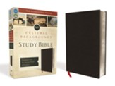 NIV Cultural Backgrounds Study Bible, Bonded Leather, Black - Slightly Imperfect