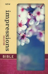 NIV Impressions Collection Bible, Hardcover, Padded, Cherry Blossom