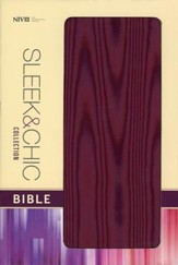 NIV Sleek & Chic Collection Bible, Flexcover, Plum Attraction