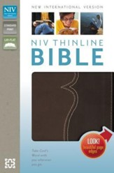 NIV Thinline Bible, Italian Duo-Tone, Chocolate/Espresso