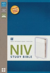 NIV Study Bible, White