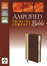 Amplified Thinline Bible Compact, Camel/Burgundy