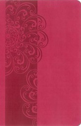 NKJV ReadEasy Bible, Compact Edition--soft leather-look, hot pink