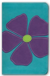 NKJV Bloom Collection Bible Compact, Italian Duo-Tone, Periwinkle Flax