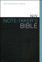 NIV Note-Taker's Bible, Hardcover, Dust Jacket  - Slightly Imperfect