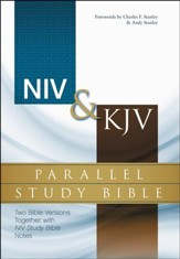 NIV & KJV Parallel Study Bible: Two Bible Versions Together for Study and Comparison, Hardcover,