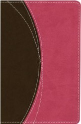 NIV Thinline Bible Compact, Ilalian Duo-Tone, Chocolate/Pink