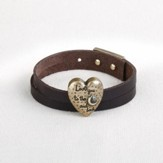 Love You the Moon and Back Leather Wrap Bracelet