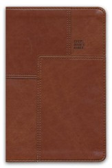 NLT Every Man's Bible, Deluxe Messenger Edition, LeatherLike, Brown, With thumb index