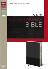 NKJV Note-Taker's Bible, Italian Duo-Tone Charcoal