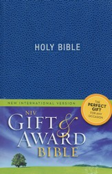 NIV Gift & Award, Blue - Imperfectly Imprinted Bibles