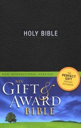 NIV Gift & Award Bible, Black - Slightly Imperfect