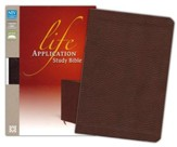 NIV Life Application Study Bible, Bonded Leather, Burgundy - Slightly Imperfect