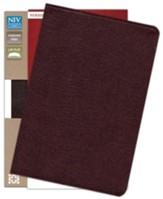 NIV Life Application Study Bible, Personal Size, Bonded Leather, Burgundy - Slightly Imperfect