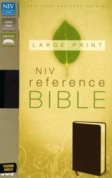 NIV Largeprint, Reference, Burgundy, Thumb-Indexed