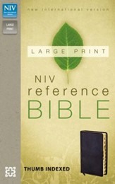 NIV Largeprint, Reference Bible, Black, Thumb-Indexed