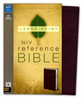 NIV Largeprint, Reference Bible, Burgundy, Thumb-Indexed
